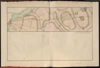 Atlas de Trudaine pour la Généralité de Bourges n° 12. Route de Bourges à Tulle jusqu'à Aigurande où finit la généralité. Passant par Chateauneuf, Linières et La-Châtre. (Cher, Indre). Route de Bourges à Tulle (14 cartes). Pont de cette route (14 feuilles). Copie des mêmes ponts (10 feuilles). Portion du grand chemin de Bourges à La-Châtre au sortir de Bourges, faisant embranchement avec le chemin de Bourges à Saint-Amand, allant au-delà de Givray.