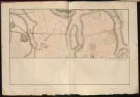 Atlas de Trudaine pour la Généralité de Bourges n° 12. Route de Bourges à Tulle jusqu'à Aigurande où finit la généralité. Passant par Chateauneuf, Linières et La-Châtre. (Cher, Indre). Route de Bourges à Tulle (14 cartes). Pont de cette route (14 feuilles). Copie des mêmes ponts (10 feuilles). Portion du grand chemin de Bourges à La-Chastre entre Trouy (Truy) et le chemin de Lazenay.