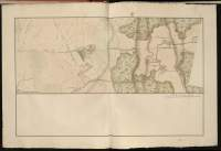 Atlas de Trudaine pour la Généralité de Bourges n° 12. Route de Bourges à Tulle jusqu'à Aigurande où finit la généralité. Passant par Chateauneuf, Linières et La-Châtre. (Cher, Indre). Route de Bourges à Tulle (14 cartes). Pont de cette route (14 feuilles). Copie des mêmes ponts (10 feuilles). Portion du grand Chemin de Bourges à La-Chastre par Arçay et Sainte-Lunaise (Sainte-Lunaize).