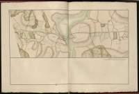 Atlas de Trudaine pour la Généralité de Bourges n° 12. Route de Bourges à Tulle jusqu'à Aigurande où finit la généralité. Passant par Chateauneuf, Linières et La-Châtre. (Cher, Indre). Route de Bourges à Tulle (14 cartes). Pont de cette route (14 feuilles). Copie des mêmes ponts (10 feuilles). Portion du grand chemin de Bourges à La-Chastre à hauteur de Baudouin passant par Thevet-Saint-Julien (Thevé) et allant bien au-delà, à hauteur d'Etaillé (Etaillier).