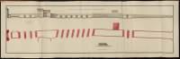 Atlas de Trudaine pour la Généralité de Bourges n° 12. Route de Bourges à Tulle jusqu'à Aigurande où finit la généralité. Passant par Chateauneuf, Linières et La-Châtre. (Cher, Indre). Route de Bourges à Tulle (14 cartes). Pont de cette route (14 feuilles). Copie des mêmes ponts (10 feuilles). Pont de Linières sur la rivière d'Aron, route de Bourges à La-Châtre. Elévation, plan, coupe.