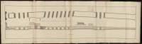 Atlas de Trudaine pour la Généralité de Bourges n° 12. Route de Bourges à Tulle jusqu'à Aigurande où finit la généralité. Passant par Chateauneuf, Linières et La-Châtre. (Cher, Indre). Route de Bourges à Tulle (14 cartes). Pont de cette route (14 feuilles). Copie des mêmes ponts (10 feuilles). Pont de Linières sur la rivière d'Arnon, route de Bourges à La-Châtre 1747. Plan, élévation.