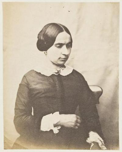 tirage photographique ; Portrait de femme non identifiée