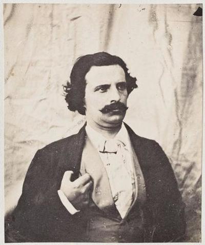 tirage photographique ; Charles Hugo, de face