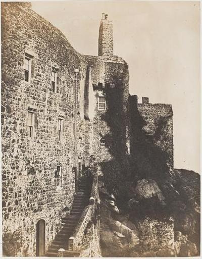 tirage photographique ; Le château Mont-Orgueil