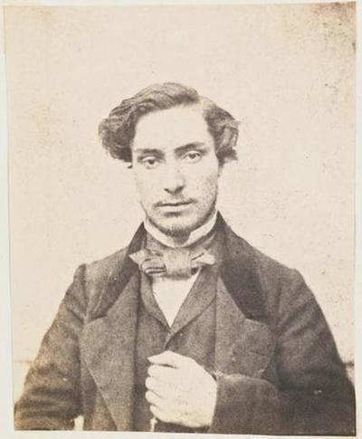 tirage photographique ; Ernest Lefèvre, de face