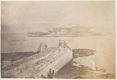 tirage photographique ; Guernesey, le château Cornet