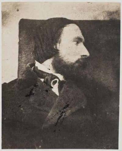 tirage photographique ; Autoportrait en buste, profil droit