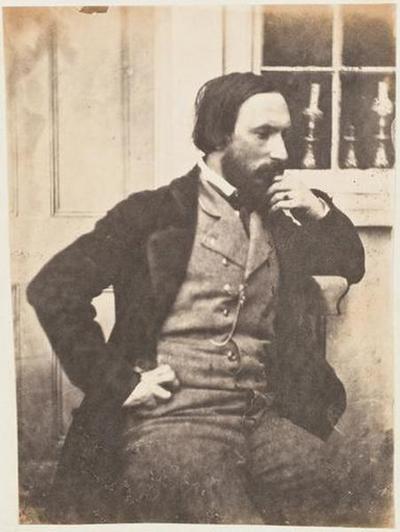 tirage photographique ; Autoportrait devant une fenêtre, profil droit