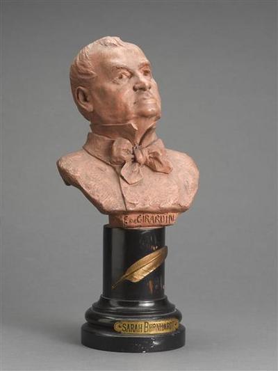 buste ; Emile de Girardin (1806-1881), journaliste et député