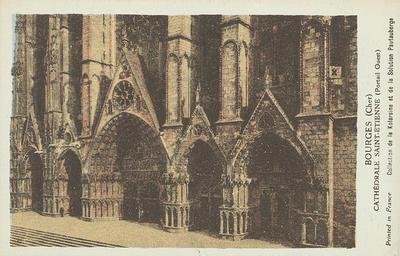 carte postale ; BOURGES (CHER) - CATHEDRALE SAINT-ETIENNE (PORTAIL OUEST)