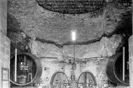 Vue générale de l'abside identifiée comme une piscine froide (Thermes de Villeneuve, Fréjus, Var).