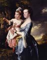 'Portrait of Sarah Carver and her daughter Sarah' by Joseph Wright of Derby