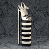 Black & white platform sandal