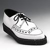 Men's white crepe soled shoe