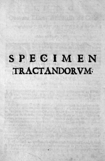 Specimen tractandorum