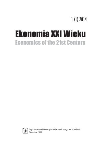 Determinanty rozwoju wsi polskiej na początku XXI wieku. Ekonomia XXI Wieku = Economics of the 21st Century, 2014, Nr 1 (1), s. 9-28