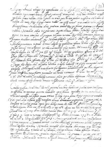 In processu Francisco Lorripas sup. apprehensioe die 20 Augusti. 1626. declararum suit ...