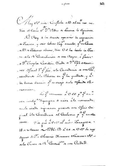 Real Orden para que se paguen anualmente a al Ua. de D. Jph. Martinez Oficial maior de la Contaduria del Cathastro, 36 fol. Jaqs.