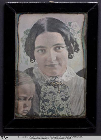 Frau Helene mit Tochter Luise
