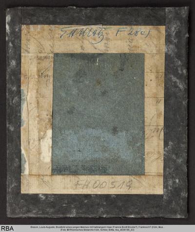 Brustbild eines jungen Mannes mit halblangem Haar (Francis Boott Brooks?)