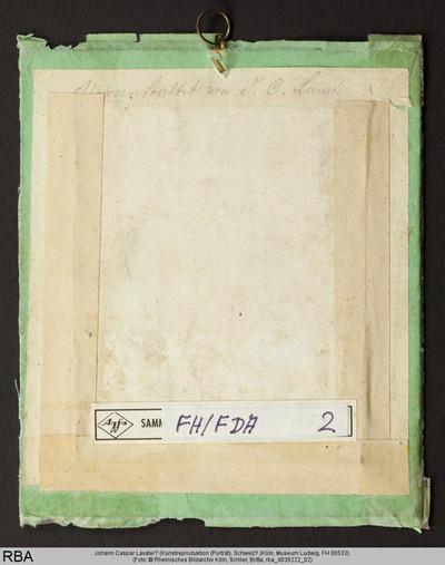Johann Caspar Lavater? (Kunstreproduktion (Porträt)