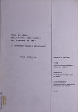 Primi materiali sulle tavole input-output del Piemonte al 1980. Volume 1. Riferimenti teorici e metodologici. Volume 2. Gli elaborati : procedimenti e tecniche di calcolo