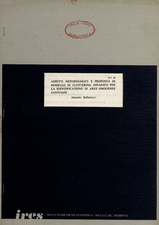 Aspetti metodologici e proposta di modello di clustering dinamico per la identificazione di aree omogenee sanitarie