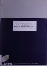 Indagine sui costi dei servizi pubblici locali in Piemonte : sintesi dei principali risultati
