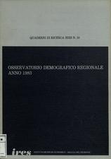 Osservatorio demografico regionale : anno 1983