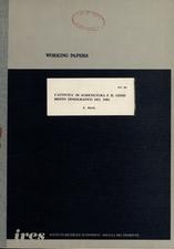 L'attività in agricoltura e il censimento demografico del 1981