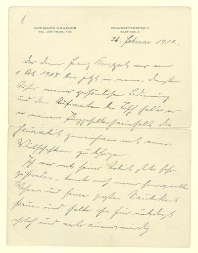Zeugniss des Dieners Franz Broszeit, im Dienst vom 1. Oktober 1908 bis zum 26. Januar 1912