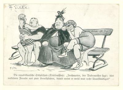 Eigenhändige Postkarte von Heinrich Zille an G. Prinzke und Gattin betr. Erwiderung gute[r] Wünsche