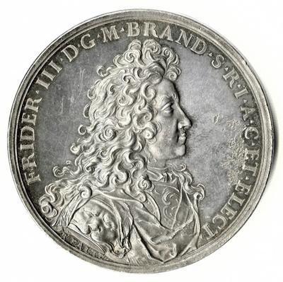 Medaille auf Kurfürst Friedrich III. und die Erbauung der Langen Brücke 1692