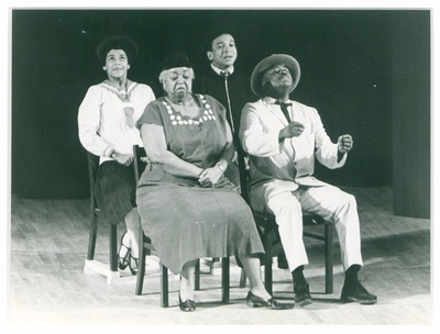 Eröffnung Kongreßhalle, Ethel Waters und Richard Ward als Ma und Pa Kirby, Vinnie Burrows als Beulah und Bill Gunn als Arthur