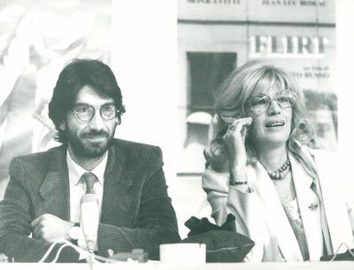 IFF 1984. Roberto Russo, Regie und Monica Vitti. Flirt