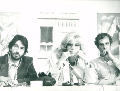 IFF 1984. Roberto Russo, Regie und Monica Vitti, Jean-Luc Bideau. Flirt