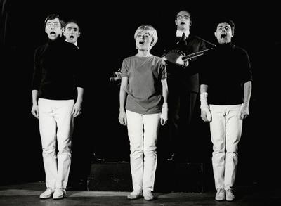 Kabarett Bügelbrett: Auf Gedeih und Verderb. Birger Heymann, Peter Knorr, Hannelore Kaub, Wolfgang Wiehe, Wolfgang Unterzaucher