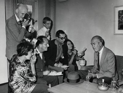 Heinz Köster, Nina von Jansen, Bodo Kochanowski, Heinz Ohff, James Stewart [12. Internationale Filmfestspiele ?]