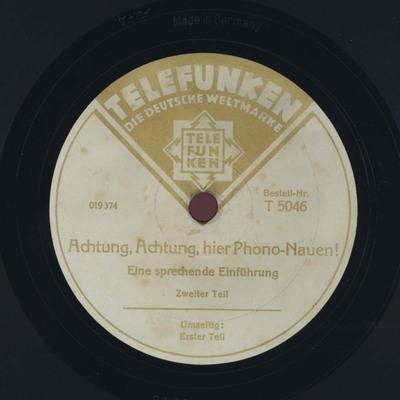 Achtung, Achtung, hier Phono-Nauen! 2. Teil