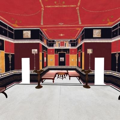 Reconstruction of room 58 at Villa of Livia