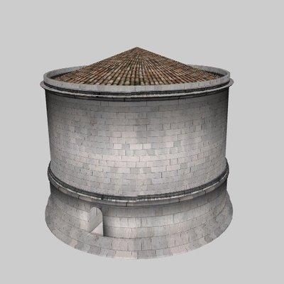 Mausoleum with niches