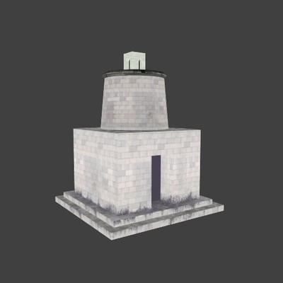 Reconstruction of the mausoleum-tower along the Via Flaminia