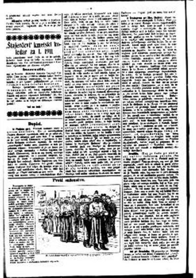 Štajerčevi kmetski koledar za l. 1911