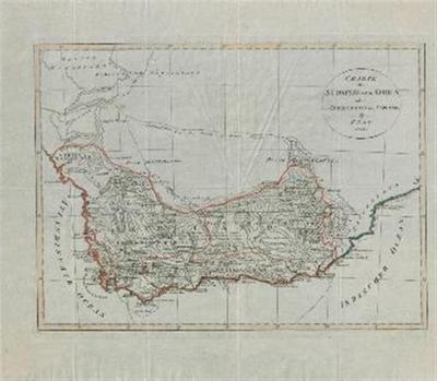 Karte der Südspize von Africa oder des Hottentotten und Caplands.