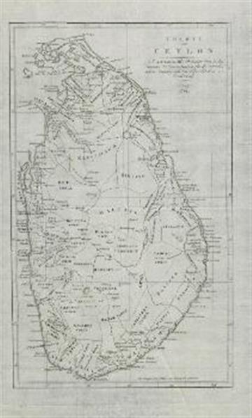 Karte von Ceylon; Nach A. Arrowsmith's Reduction einer in den Händen der Commissarien für die Ostindischen Angelegenheiten befindlichen Zeichnung