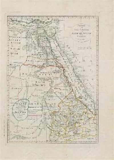 Karte vom Nil Strömen oder Ägypten, Nubien und Habesch.