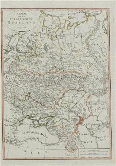 Karte von dem europaischen Russland