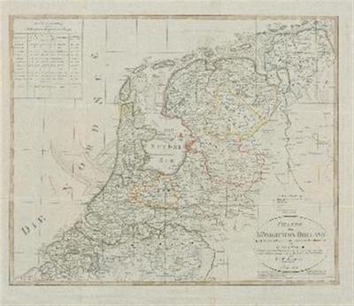 Karte des Königreichs Holland nach den besten Ortsbestimmungen zuerst entworfen von Adolf Stieler und nach der neuesten Einteilung vom 13. April 1807 und dem Länderabtretungstractate vom 11. November 1807 berichtiget von Friedrich Wilhelm Streit, Oberlieutenant.