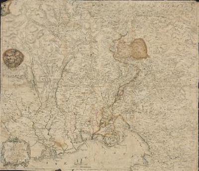 Carta  topografica di tuto il territorio del Friuli Goriziano ed Udinese; Fra i confini della Carintia, del Cragno, del Triestino, del Trevisano, del Bellunese colle Strade, e Poste